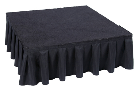Stage Skirt - 8' Section (1' Stage) (Black or White)