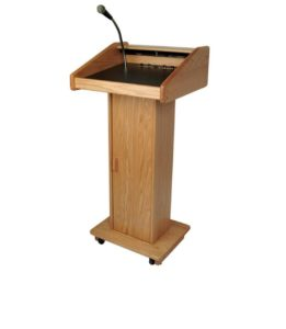 Podium with Sound System with Mic