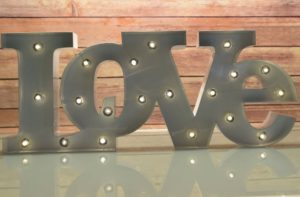 love sign rental miami