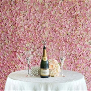 pink flower wall rental miami